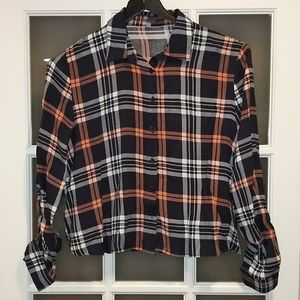 Charlotte Russe button up plaid top
